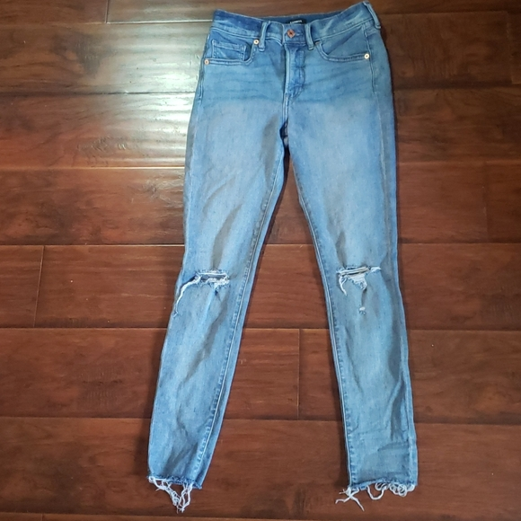 Express Jeans Size 2 Skinny Mid Rise